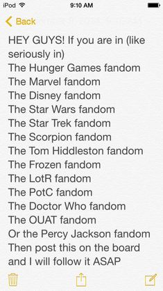 FANDOMS!!!!