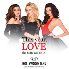 This year, LOVE the skin you're in starting with our January 2017 promotion. Ask your Hollywood Tans' Sales Associate for more details.