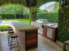 Outdoor Kitchen Plans, Outdoor Kitchen Design, Outdoor Kitchens, Outdoor Rooms, Outdoor Living, Outdoor Furniture Sets, Bbq Island, Kitchen Island, Kitchen Design Gallery
