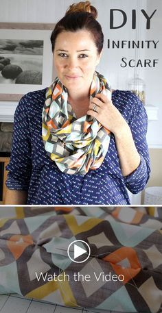Stretchy Infinity Scarf Tutorial - Have you heard about our soft and stretchy Modern Jersey? It's the perfect fabric for garment sewing. Our guest author, Emma Jeffery, stops by the blog to share her first sewing project with the new jersey, a perfect opt