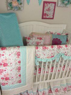 9268f5af03768 14 Best Shabby chic floral crib bedding for girlie nurseries images ...