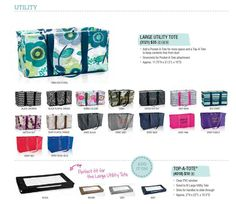 Large Utility Bag from Thirty-One Gifts 2015 Spring-Summer Collection (US) Various colors/prints available. https://www.mythirtyone.com/heavenlymama/