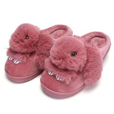 Cute Bunny Slippers Indoor Hot Warm Women Animal Winter Fur Home Slipper Shoes Female Nonslip Funny Rabbit Furry House Slippers Bunny Slippers, Winter Slippers, Soft Slippers, Cute Slippers, Cute Bunny, Womens Slippers, Cute Shoes, Casual Shoes, Plush