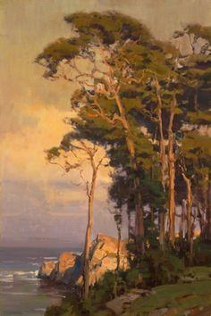 """Scott Christensen - """"Coastal Cypress"""" 30x20"""