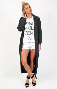 Staple the Label Knit Zip Cardi Coat <3