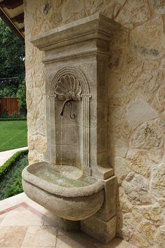 Fountain on the wall. Fountain on the wall.