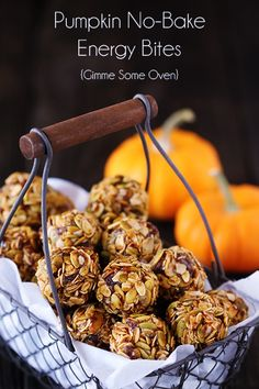 Pumpkin No Bake Energy Bites.  I'm a sucker for granola bars, but they sometimes contain excessive added sugar or are highly processed.  These are a great alternative; easy to make; and rich in Vitamin A, Fiber, omega-3 fats, and also have some protein.