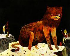 Smokey the Cat  Art Print