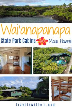 Wai'anapanapa State Park Cabins - Maui, Hawaii - Did you know that there is an affordable place to stay in Hana? Wai'anapanapa state park cabins are the perfect accommodations right in the state park in Hana, Hawaii. Hawaii Vacation Tips, Trip To Maui, Hawaii Honeymoon, Family Vacation Destinations, Maui Hawaii, Beach Vacations, Family Vacations, Travel Destinations, Maui Travel