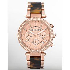 Michael Kors Rose Golden and Tortoise watch