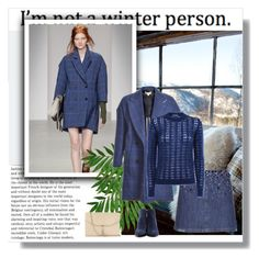 """Wool Lou Coat in Blue Check"" by bodangela ❤ liked on Polyvore featuring TOUS, Miu Miu, Yves Saint Laurent, Express and Alexander Wang"