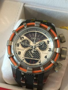 "Invicta Reserve 50mm Bolt ""Twisted Metal"" Swiss Made Quartz Chronograph Polyurethane Strap Model Numbers: 17466"
