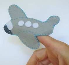 Airplane finger puppet Plane finger puppet by ModernSimpleBaby