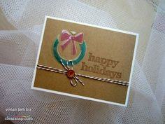 Use SMOOCH Accent Inks & dry embossed designs to make this really fast card project!   Easy Christmas Card with SMOOCH Accent Ink for Clearsnap Blog