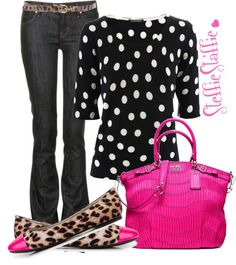 """Spotted"" by steffiestaffie on Polyvore"