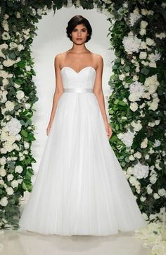 Sweetheart A-Line Wedding Dress  with Natural Waist. Bridal Gown Style Number:33499138
