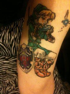 link tattoo. Bad ass loooooovvvvveeeee IT