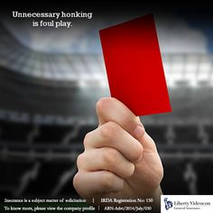 During the football season, players got the red card for bad behaviour. On the streets, excessive honking is bad behaviour and deserves a red card too. #HornNotOKPlease