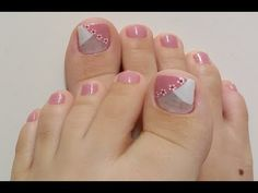Cute Pedicure Designs, Toenail Art Designs, Grey Nail Designs, Pretty Toe Nails, Cute Toe Nails, My Nails, Pedicure Nail Art, Toe Nail Art, Manicure And Pedicure