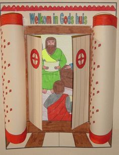 Knutselwerkje bij de Bijbel: Twaalfjarige Jezus in de tempel