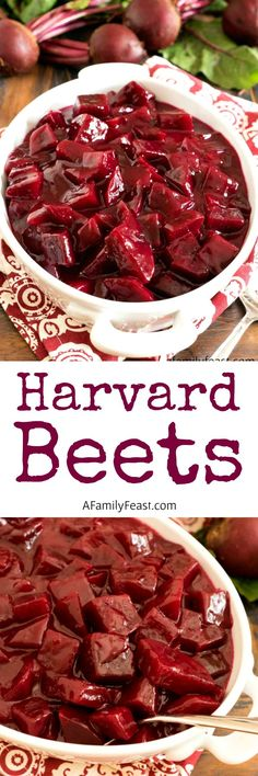 Harvard Beets - Fresh beets in a sweet and sour sauce. So delicious!