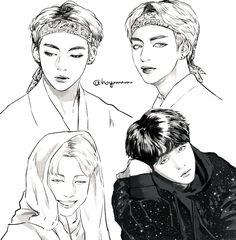 (11) Twitter Kpop Drawings, Sketch Inspiration, Amazing Drawings, Bts Fans, Kpop Fanart, Rap Monster, Manga, Art Sketchbook, K Idols