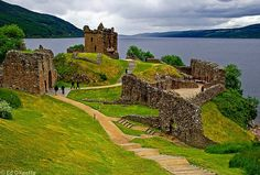 Urquhart Castle by Loch Ness Highlands of Scotland Oh The Places You'll Go, Places To Travel, Places To Visit, Loch Ness Scotland, Castle Scotland, Inverness Scotland, Highlands Scotland, Dream Vacations, Vacation Spots