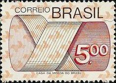 Sello: Stamp (Brasil) (Mark Post and Emblem) Mi:BR 1451,Sn:BR 1260,Yt:BR 1129,RHM:BR 555