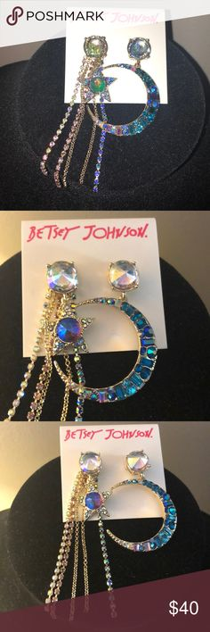 Brand New Betsey Johnson earrings Celestial Moon 🌙 and star 🌟 collection totally awesome 😍😍. Betsey Johnson Jewelry Earrings