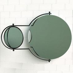SkabRum, Orbit Mirror designed by Rodney Kinsman. The small orbiting mirror has a magnifying mirror on its reverse. Perfect for bathroom! DKK 4.900. #bathroom #mirror #RodneyKinsman #chrome #steel