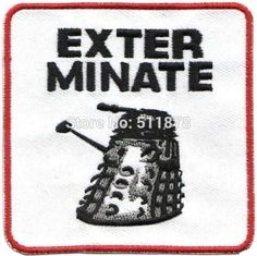 "3"" Unit Logo Doctor Who DR WHO EXTERMINATE Movie TV Series Costume Cosplay Embroidered Emblem applique iron on patch"