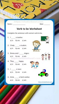 Verb to be Worksheets for kids