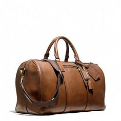 Men's Vintage Leather Travel Bag / Luggage / Duffle Bag / Sport ...