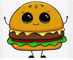 32 best Draw so cute images on Kawaii Girl Drawings, Cute Food Drawings, Cartoon Drawings, Griffonnages Kawaii, Kawaii Anime, Draw So Cute Food, Hamburger Drawing, So Cute Images, Kawaii Doodles