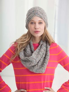 Wave Pattern Hat And Cowl crochet free pattern