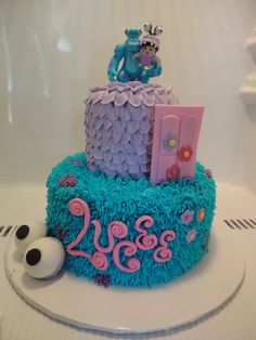 monsters inc, birthday cake Monster Inc Party, Monster Inc Cakes, Monster 1st Birthdays, Monster Birthday Parties, 2nd Birthday Party Themes, First Birthday Parties, First Birthdays, 3rd Birthday, Birthday Ideas