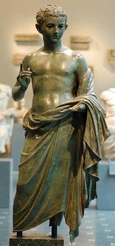Julio-Claudian (?) Boy in bronze, Metropolitan Museum, New York: