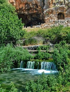 """Caesarea Philippi (Banias), where Peter made his confession of Jesus as Lord. Also known for widespread worship of idols (""""high places"""" spoken of in the Old Testament)"""