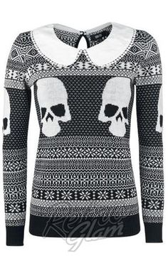 Iron Fist Christmas Girly Sweater #retroglam #retroglamclothing #skulls