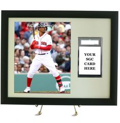 Sports Card Frame for YOUR SGC Graded Mookie Betts Card (INCLUDES PHOTO)