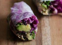 Sesame Crusted Avocado and Cabbage Spring Rolls - Door to Door Organics