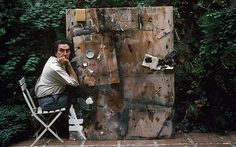 Antoni Tàpies (1923-2012) was a largely self-taught Spanish abstract painter whose seductive, tactile surfaces, often scratched with mysterious graffiti-like marks, made use of unconventional materials like marble dust, ground chalk, sand and earth.