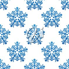 iCLIPART - Snowflakes seamless pattern background for winter and christmas design