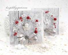 Wild Orchid Crafts: White with a little red