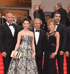 Medi Sadoun, Frederique Bel, Christian Clavier and guests attend the 'Jimmy's Hall' premiere during the 67th Annual Cannes Film Festival on May 22, 2014 in Cannes, France.