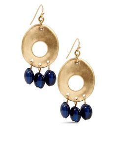Chico's Hannah Blue Drop Earring