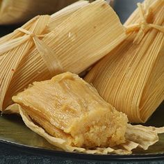 Nicaraguan Sweet Tamales  1 pkg. (8 oz.) dried corn husks 2 cans (15 1/4 oz. each) whole kernel corn (about 3 cups), drained 2/3 cup (5 fl.-oz. can) NESTLÉ® CARNATION® Evaporated Milk 1 pkg. (15 oz.) queso fresco, crumbled (about 2 1/2 cups) 1 can (7.6 fl. oz.) NESTLÉ Media Crema or table cream or 1 cup crème fraîche 1 cup granulated sugar 1 teaspoon salt 1/2 teaspoon baking powder 1 cup instant corn masa mix for tamales