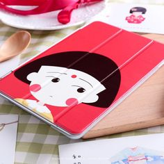 Case with Cartoon Cute girl for inch