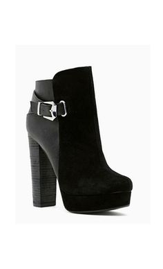 shoe cult apex black bootie