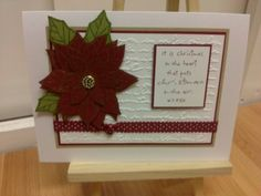 Poinsettia xmas card, using Stampin Up x